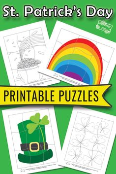 St. Patrick's Day Printable Puzzles for Kids - itsybitsyfun.com