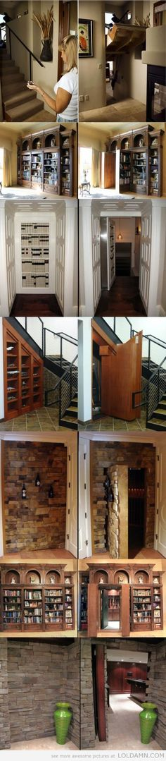 I promised Brandon he could have ONE hidden passageway in our house. ONE.