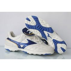 Mizuno Neogrado Wave III TF Soccer Cleats-White Blue