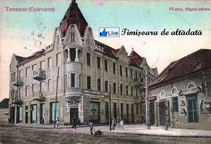 Timisoara - 1912 - Fabricul de altădată cu Palatul Nägele ridicat între anii 1910 şi 1911, cunoscut  sub numele de Farmacia Kovacs Romania, Notre Dame, Louvre, Germany, Building, Travel, Journal, Viajes, Buildings