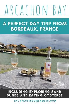 Day trip from Bordeaux | France - Looking for a beautiful place to visit for a day trip from Bordeaux in France? Arcachon Bay is a wonderful place to visit and relax, away from Bordeaux, you can try oysters or even visit the huge sand dunes on your trip. | Useful information about Bay of Arcachon here + top tips | Visiting Arcachon France | #france Beautiful Places To Visit, Beautiful Beaches, Wonderful Places, Europe Travel Tips, Travelling Europe, Weekend Breaks Europe, Local Tour Guides, Bordeaux France, Countries To Visit