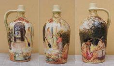decoupage: üveg- és cserépdíszítés   Judit Kreatív - Kreatív hobbi   decoupage   textil festés   szalvéta technika