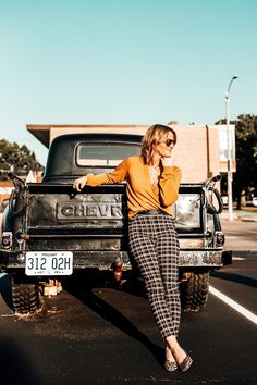 13 Reasons Why We Love Fall Fall Outfits 2018, Casual Fall Outfits, Winter Outfits, Autumn Fashion Casual, Fall Fashion Trends, Fall Trends, Plaid Pants Outfit, Fashion Blogger Style, 13 Reasons