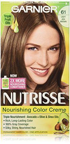 Garnier Nutrisse Nourishing Color Creme, 61 Light Ash Brown *** You can get additional details at