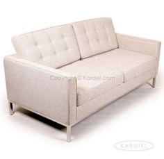 Florence Knoll Love Seat Twill Wool Khaki Midcentury Retro Sofa 2SEAT Egg Modern | eBay