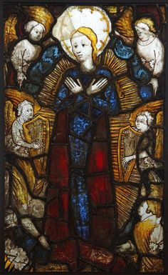 john thornton glass | Burrell Collection - Assumption of the Virgin from Hampton Court 1400 ...