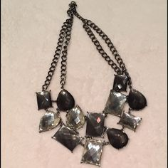 Black and Grey Statement Necklace (2 for $27) Black and Graphite Statement Necklace Love Always Accessories