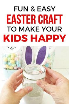 Make This Easter A Fun Day For Your Kids With This Easter Bunny Craft Project For Adults And Parents. This Easy Diy Craft Is Enjoyable And Can Be Personalized. Easter Crafts To Make, Bunny Crafts, Easy Diy Crafts, Craft Projects For Adults, Crafts For Kids, Easter Gift For Adults, Mason Jar Storage, Rainy Day Crafts, Magazines For Kids