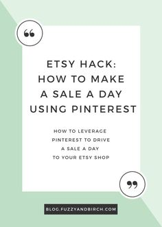 Imagine this: Your Etsy shop is getting HUNDREDS of hits per day via Pinterest, and the people who click through are EXCITED about your product. They're ready to buy. Some studies are beginning to show that people are willing to pay MORE for items found on Pinterest than any other social network…So you're sitting pretty. Click to learn how to do it!