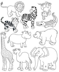Endangered Animals Coloring Pages. 20 Endangered Animals Coloring Pages. Endangered Animals Coloring Pages Animals From north Animal Paintings, Animal Drawings, Colouring Pages, Coloring Books, Zoo Animal Coloring Pages, Drawing For Kids, Art For Kids, Jungle Animals, Cute Animals