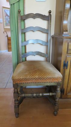 High Back ladder style chair. Set of 2.