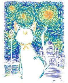 Clair de Lune by GillesBone Artemis Sailor Moon Cat, Sailor Moon Fan Art, Sailor Moon Crystal, Sailor Venus, Manga Anime, Anime Art, Luna Y Artemis, Sailor Moon Wallpaper, Sailor Scouts