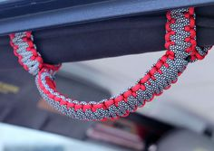 TJ or YJ Paracord Jeep Wrangler Grab Handles, Roll Bar Handles, Roll Bar Grips, HawgTies, set of two by HawgtiedGrips on Etsy