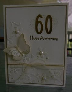 Mom and Dad's 60th Wedding Anniversary Card by Arlene Mantle - Cards and Paper Crafts at Splitcoaststampers