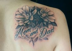 Are you searching about mom and dad tattoo? Here are the top 9 types of Mom and Dad tattoo designs that you can try out. Mum And Dad Tattoos, Parent Tattoos, Mom Tattoos, Small Tattoos, Tatoos, Tribal Tattoos, Tattoos Skull, Feather Tattoos, Butterfly Tattoos