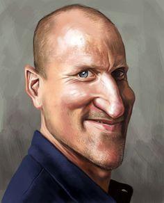 Woody Harrelson - illustration of Ernesto Priego