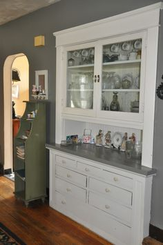 built in china cabinet in bungalow home