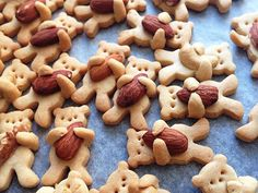 Teddy Bear Hugging Nut Cookies