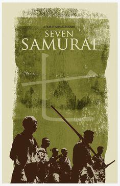 Seven Samurai Movie Poster Print by sanasini on Etsy