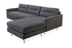 Gus* Modern | The Logan Bi-Sectional balances comfort with refined, modern style. The back cushions have a unique, channel-stitch detail which creates a subtle play of light and form.  Constructed with kiln-dried 100% FSC®-Certified hardwood.
