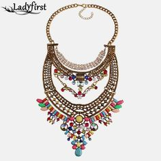 Colorful Gem Crystal Luxury Big Vintage Chunky Necklaces & pendants Maxi Boho Statement Collar Necklace 3517 Do you want itGet it here --->  http://www.jewelrydue.com/product/ladyfirst-2016-new-colorful-gem-crystal-luxury-big-vintage-chunky-necklaces-pendants-maxi-boho-statement-collar-necklace-3517/ #shop #beauty #Woman's fashion #Products #homemade