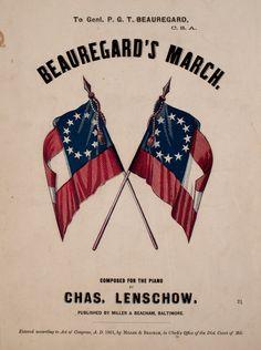Sheet Music ~ Beauregard's March
