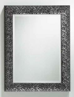 "Smoked Chromo Framed Bevel Mirror - #272 26.5""w, 1.75""d, 34.5""h"