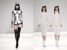 Futuristic Nurse Fashion - The Pam Hogg SS13 Collection is Sensual and Sci-Fi (GALLERY)
