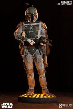 Boba Fett Life-Size Figure with Light-Up Base
