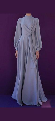 Modest Dresses, Stylish Dresses, Simple Dresses, Elegant Dresses, Pretty Dresses, Fashion Dresses, Dresses With Sleeves, Islamic Fashion, Muslim Fashion