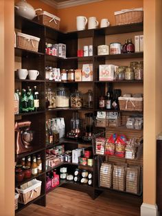 An attractive, well-organized pantry space can serve double duty as both storage and a display area.