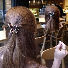 Women Butterfly Crystal Elegant Hair Clip Hairpin Rhinestone Headwear Claw Clamp in Clothing, Shoes, Accessories, Women's Accessories, Hair Accessories   eBay