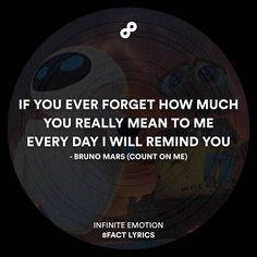 Everyday I will remind you.  #8fact #8factlyrics #lyrics #music #brunomars