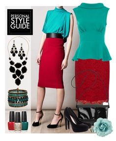 """InspiRED by Turquoise"" by leighanned on Polyvore"