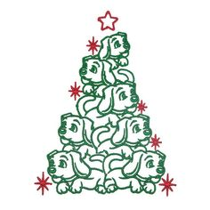 Puppy Christmas Tree Embroidery Designs You get 2 sizes: and Machine Quilting Designs, Machine Embroidery Projects, Free Machine Embroidery Designs, Embroidery Fonts, Apex Embroidery, Embroidery Ideas, Christmas Tree Embroidery Design, Christmas Puppy, Sewing Projects For Beginners