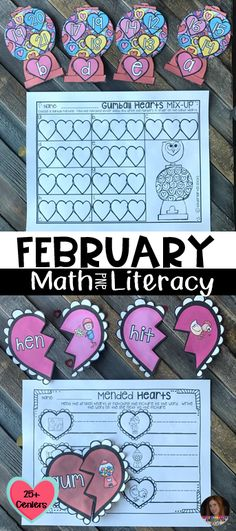 February Math and Literacy Centers are full of fun hands on centers that your students will love!  The centers are aligned to the common core.
