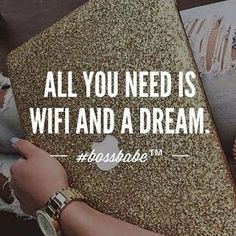 """""""ALL YOU NEED IS WIFI & A DREAM"""" I've been asked the question a lot recently... """"Can I do this from anywhere? I travel a lot & my schedule is crazy!"""" So this is me telling you YESSS!!! And that is the BEAUTY of this business: ''All you need is WIFI & a DREAM"""" ...to read more click the picture!"""