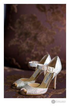 Classic Mary Janes with a touch of bling.     http://www.a-dreamwedding.com/