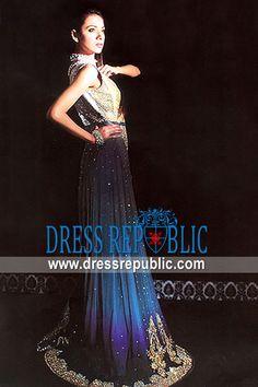 Colorant Leticia, Product code: DR6520, by www.dressrepublic.com - Keywords: Amazing Designer Long Gowns from Pakistani Designers, Dresses by Pakistani Designers Online
