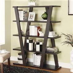 Coaster Bookcases Modern Bookshelf with Inverted Supports & Open Shelves - Del Sol Furniture - Open Bookcase Phoenix, Glendale, Tempe, Scottsdale, Arizona