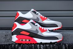 """The wait for the Infrared 90s is almost over. The Nike Air Max 90 """"Infrared"""" arrives tomorrow, May 28th. In accordance with this classic retro runner's…"""