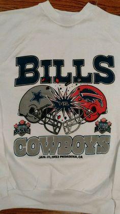 Bills Vs Cowboys Super Bowl XL Sweatshirt 1993 Mint