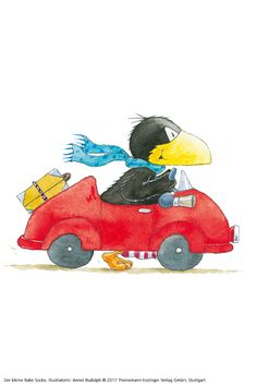 #derkleinerabesocke #rabe #socke #abenteuer #autorin #nelemost #illustration #annetrudolph #auto #fahren Happy Paintings, Kindergarten, Bee, Snoopy, Comics, Crafts, Fictional Characters, Vehicle, Rocks