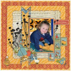 Layout: Little Mother Goose by Chez49 from Scrapbook.com. Beautiful! #graphic45 #layouts