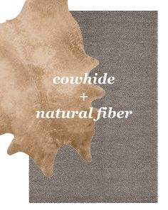 Layered Rugs:: faux cowhide + natural fiber rug