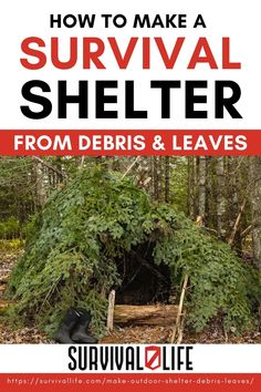 A strong outdoor shelter could be a lifesaver in a survival situation. Check out the tutorial below to learn how to create a shelter using debris, sticks and leaves. #survivallife #survival #preparedness #survivalist #prepper #camping #outdoors #spring #outdoorsurvival #survivalshelter Survival Stuff, Survival Life, Survival Food, Wilderness Survival, Outdoor Survival, Survival Prepping, Emergency Preparedness, Survival Skills, Military Tactics