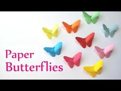 DIY crafts: Paper BUTTERFLIES (very EASY) - Innova Crafts - http://www.7tv.net/diy-crafts-paper-butterflies-very-easy-innova-crafts/