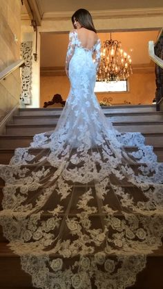 Hochzeitskleider Have you seen the train on the NICOLETTE-B gown? Stunning Wedding Dresses, Luxury Wedding Dress, Dream Wedding Dresses, Beautiful Gowns, Bridal Dresses, Wedding Gowns, Bridesmaid Dresses, Prom Dresses, Wedding Hijab