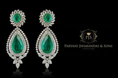 green classic emerald Earring beyond elegance