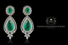 green classic emerald Earring beyond elegance